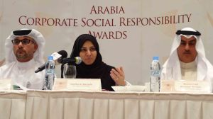 Head table at launch of Arabia CSR Awards